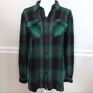 BDG Urban Outfitters Green Plaid Tunic Small